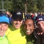Selfie tagen av Fredrik Hjorth längst till vänster, sedan Alex, Simon och jag.