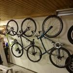 Cykelparkering i garagetaket