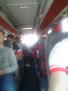 I bussen på väg till VR
