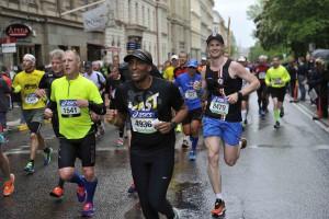 Efter 17 km på Stockholm Marathon 2015, 84 kg