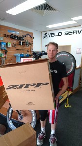 Dan Evans at Velo Service in Mooloolaba helped me out with a new disc wheel